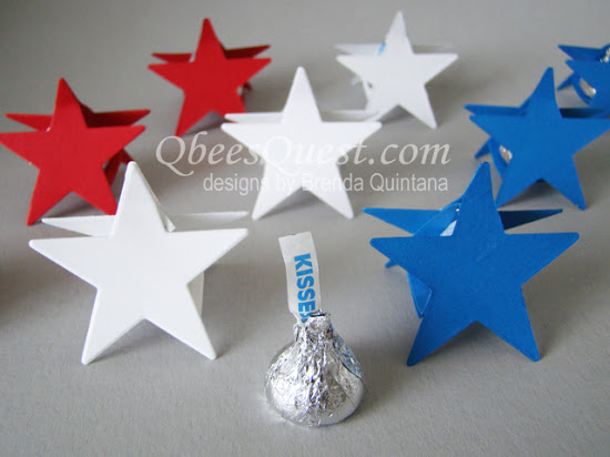 Hershey's One Kiss Star Favor