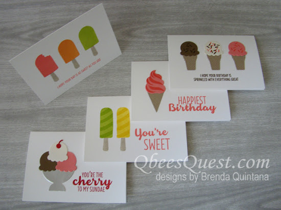 Cool Treats Note Cards
