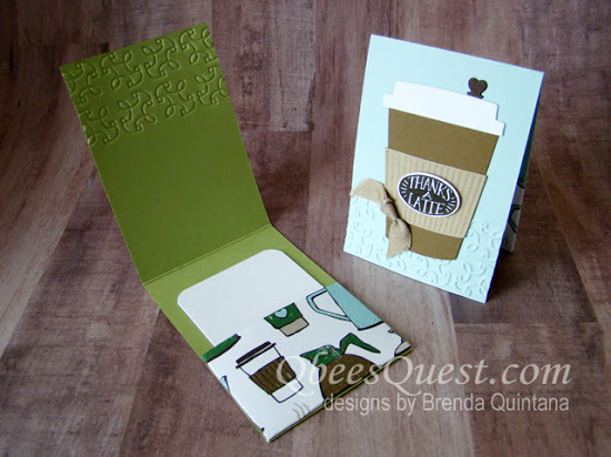 Coffee Cafe Gift Card Holder