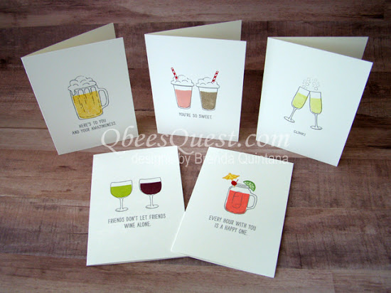Mixed Drinks Note Cards