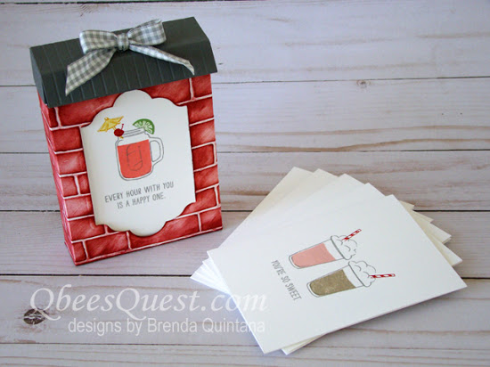 Mixed Drinks Note Card & Candy Box