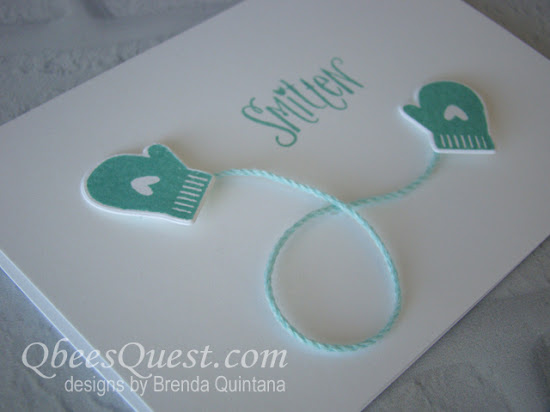 Smitten Mittens Note Card