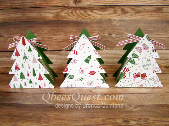 Christmas Tree Boxes Tutorial