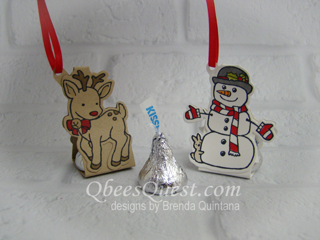 Reindeer & Snowman Hershey's Kisses Ornaments