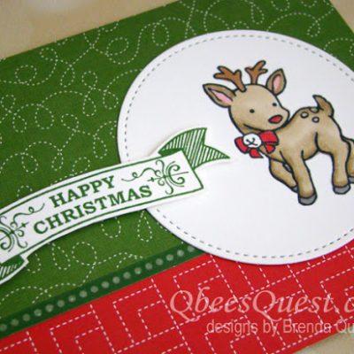 Reindeer Chirstmas Card (CT #120)