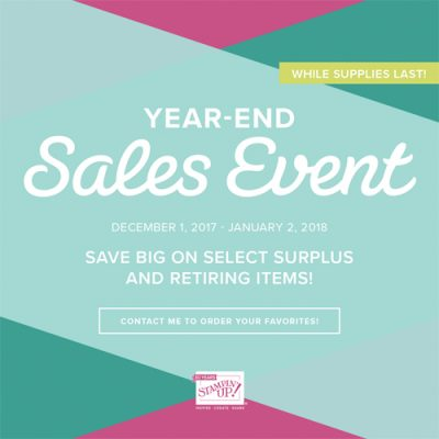Year End Sale & Retiring Products