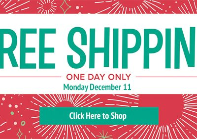 FREE Shipping Monday Only!!