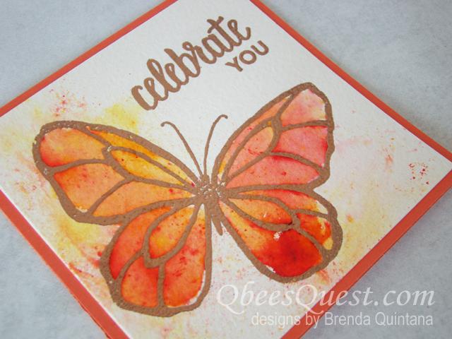 Beautiful Day Brusho Card (CT #131)