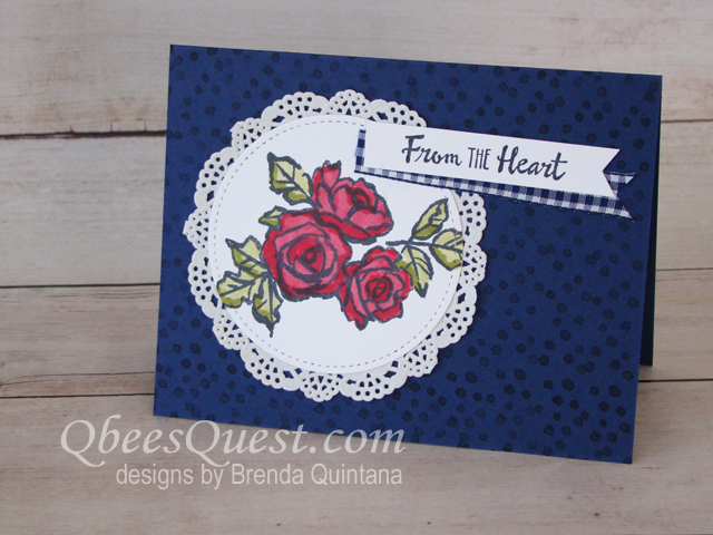 Petal Palette Rose Card (CT #135)