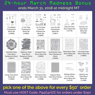 March Madness 24-hour Bonus + Last Day of Sale-a-bration