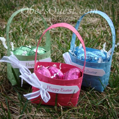 Easter Basket with Embossing Folders