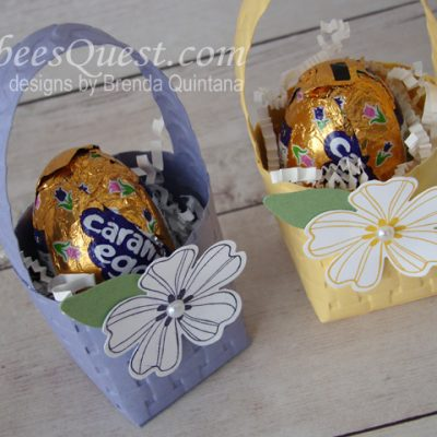 Easter Basket with Embossing Folders 2
