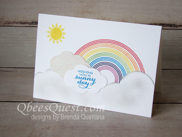 How I stamped 50 Sunshine & Rainbows Thank You Cards