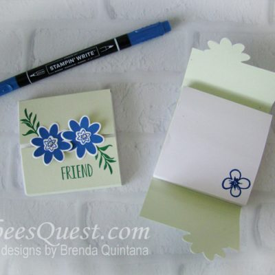 Bouquet Blooms Post-it Note Holder