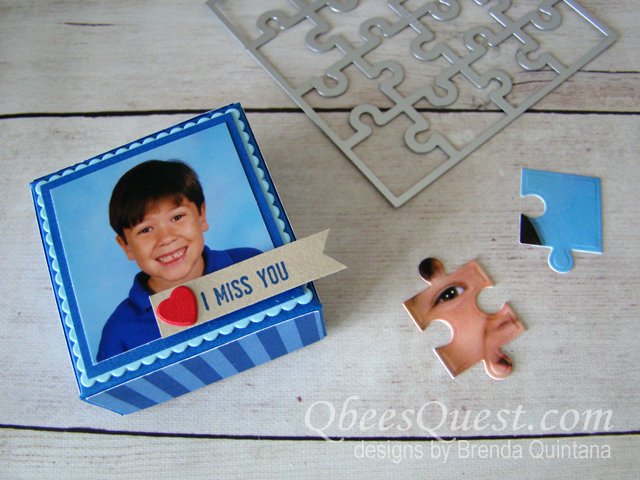 Mini Photo Puzzles with Gift Box Tutorial