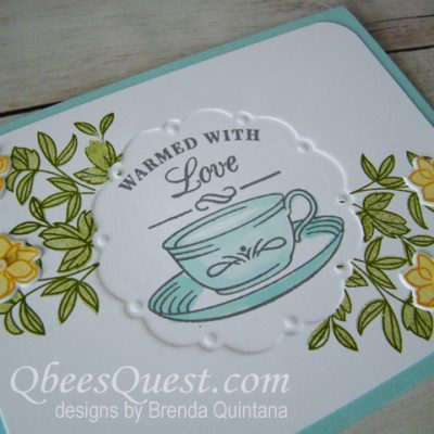 Embossing with die cut & punched shapes: Thursday Tip