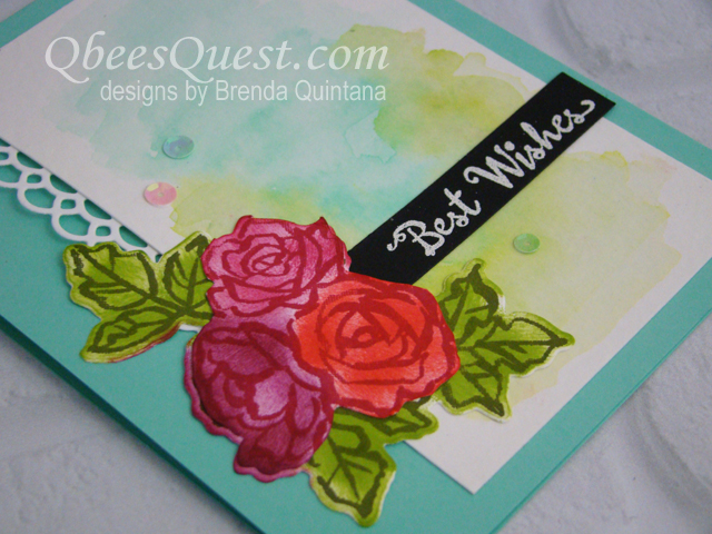 Petal Palette Watercolor Card (CT #154)