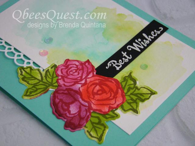 Petal Palette Watercolor Card (CT #154)