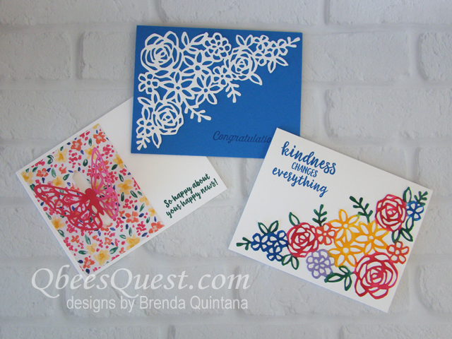 3 FUN cards using the Abstract Impressions Bundle