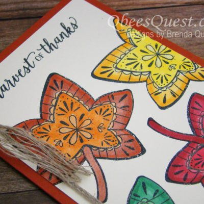 Falling for Leaves Stampin' Blends Card (CT #164)