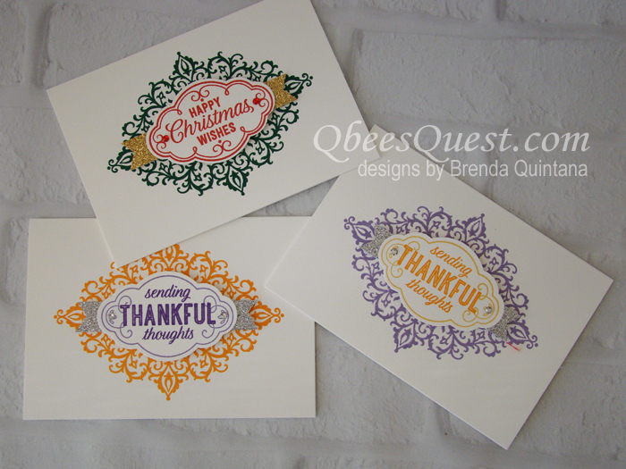 Easy Flourish Filigree Note Cards