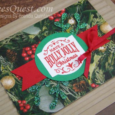 Christmas Traditions Punch Box Card (CT #169)