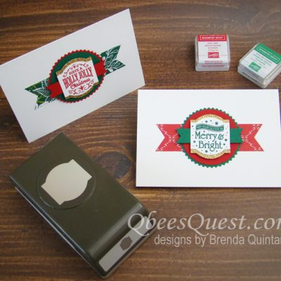 Christmas Traditions Punch Box Note Cards