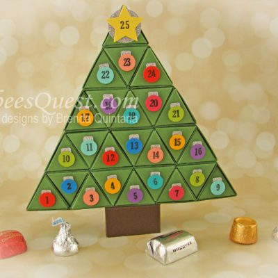 Christmas Tree Advent Calendar Tutorial