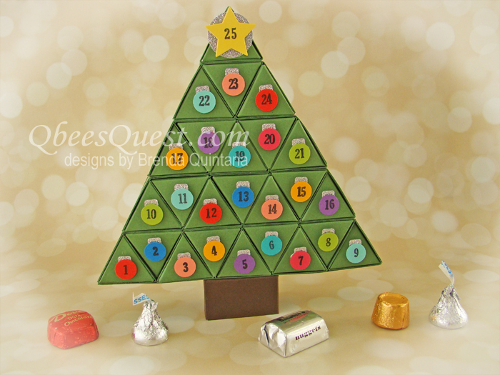 Christmas Tree Advent Calendar Tutorial