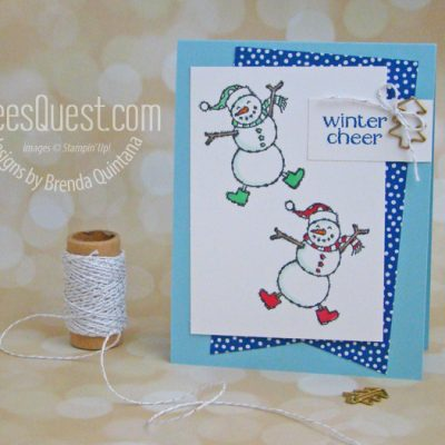 Spirited Snowman Card (CT #174)