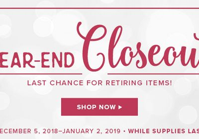 Holiday Closeout Sale & Find out What's Retiring VIDEO