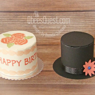 Birthday Cake Box AND Frosty's Hat Box Tutorial