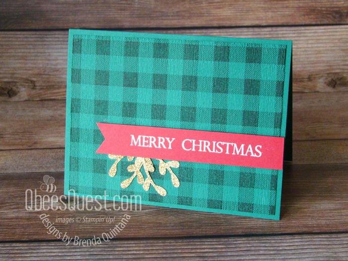 Buffalo Check Christmas Card (CT #179)