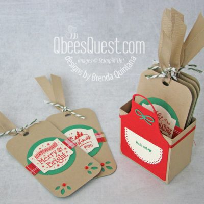 Tags & Holder with Christmas Traditions Punch Box