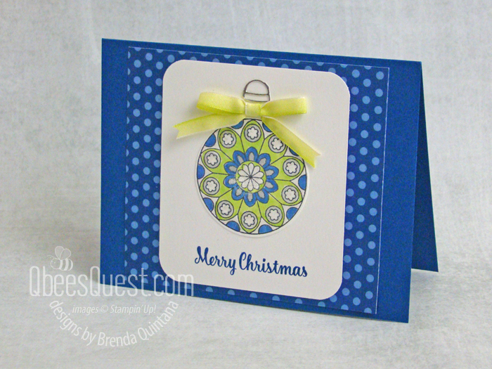 Painted Glass Ornament Card (CT #176)