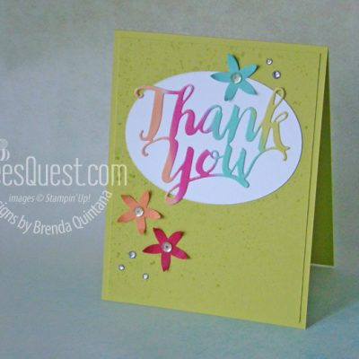 Sherbet Thank You Card (CT #178)