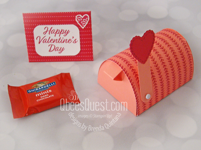 Mini Mailboxes Tutorial with Ghirardelli Squares Envelopes