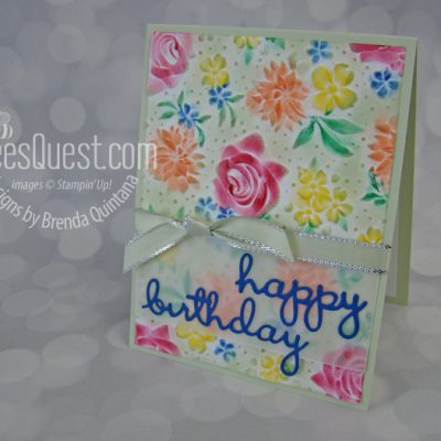 Country Floral Embossing Folder (2 different looks)