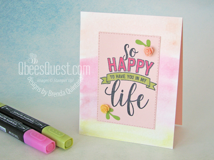 Amazing Life Card with Watercolor Wash Technique (CT #189)