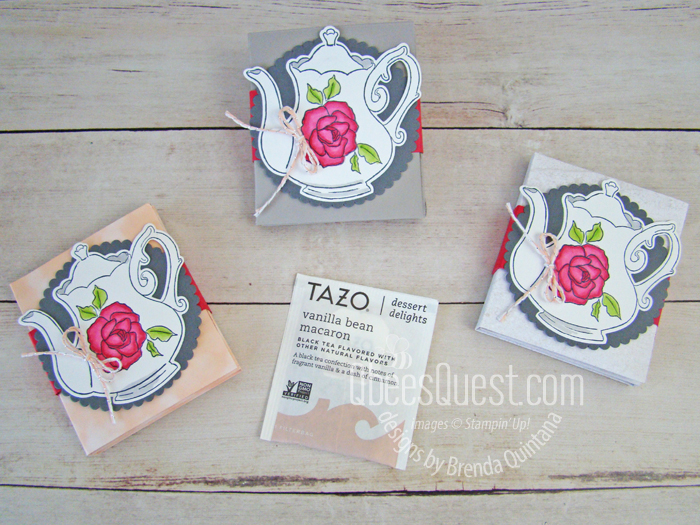 Tea Bag Gift Holder Tutorial