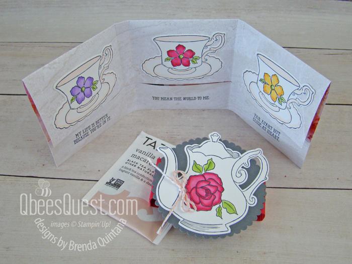 Tea Bag Gift Holder Tutorial