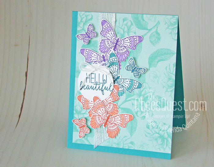 Butterfly Gala Card with new In-Colors