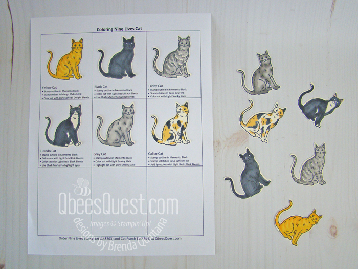 How to Color the Cats from the Nine Lives Stamp Set