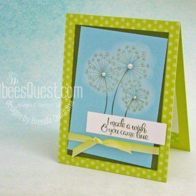Dandelion Wishes Card … Farewell Lemon Lime Twist