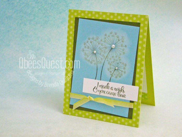 Dandelion Wishes Card … Farewell Lemon Lime Twist
