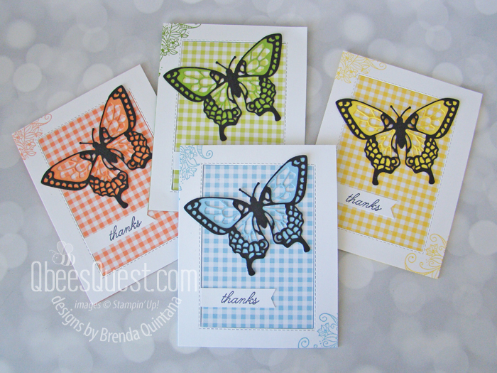 Butterfly Thank You Cards with Beauty Abounds