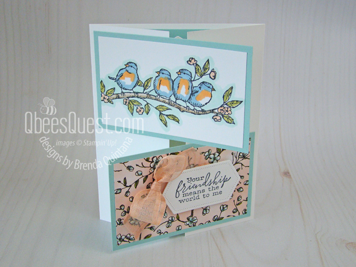 Free as a Bird Crossover Gatefold Card