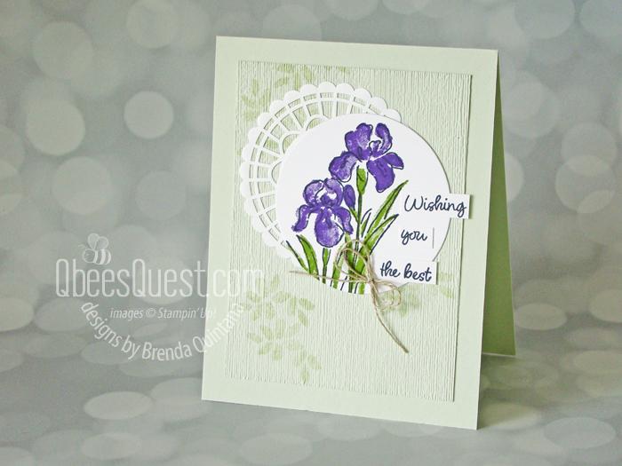 Inspiring Iris Card (coping with my doily phobia)