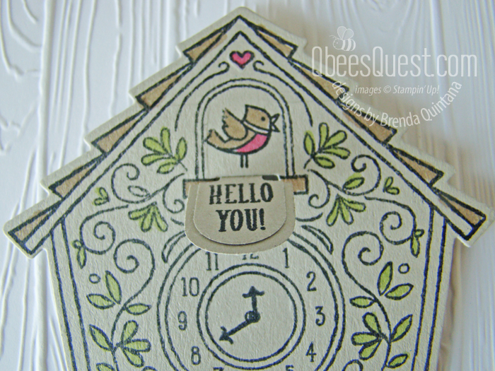 Cuckoo Clock Card with Pop-up Door