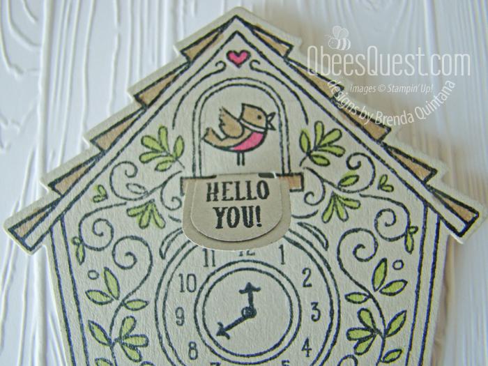 Cuckoo Clock Card with Pop-up Door
